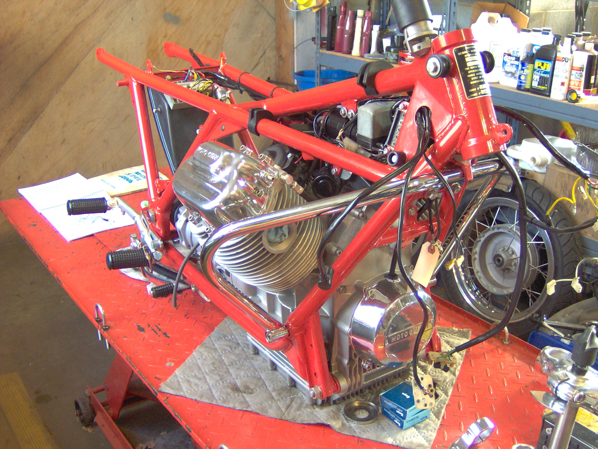 V7 Sport Restoration Wiring Harness Installed